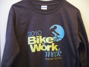 Bike To Work Week Victoria 2010 T-shirt