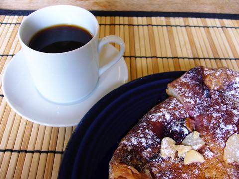 エスプレッソの朝食