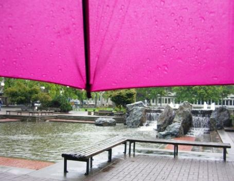 雨の日の大学