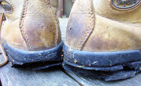 ブーツかかと