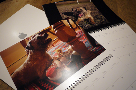 iPhoto のカレンダー