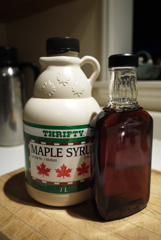 メープルシロップのボトル