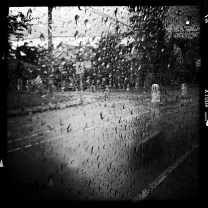 雨の日のバス