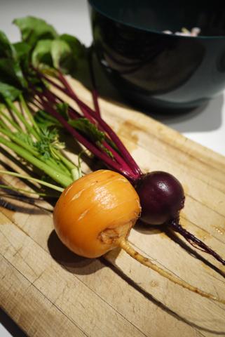 庭のお野菜でかき揚げ